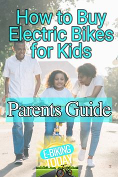 Graphic showing happy family teaching child to ride bike