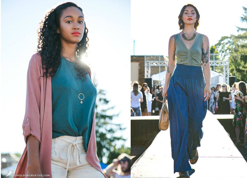 EcoVibe Apparel featured in the Alley 33 Fashion Show-EcoVibe Apparel