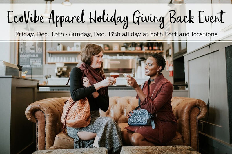 Join us for our Holiday Giving Back Event!-EcoVibe Apparel
