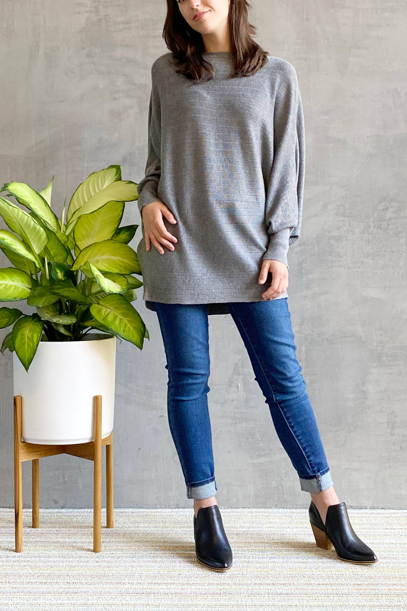 EcoVibe Topaz Tunic in Ash Grey