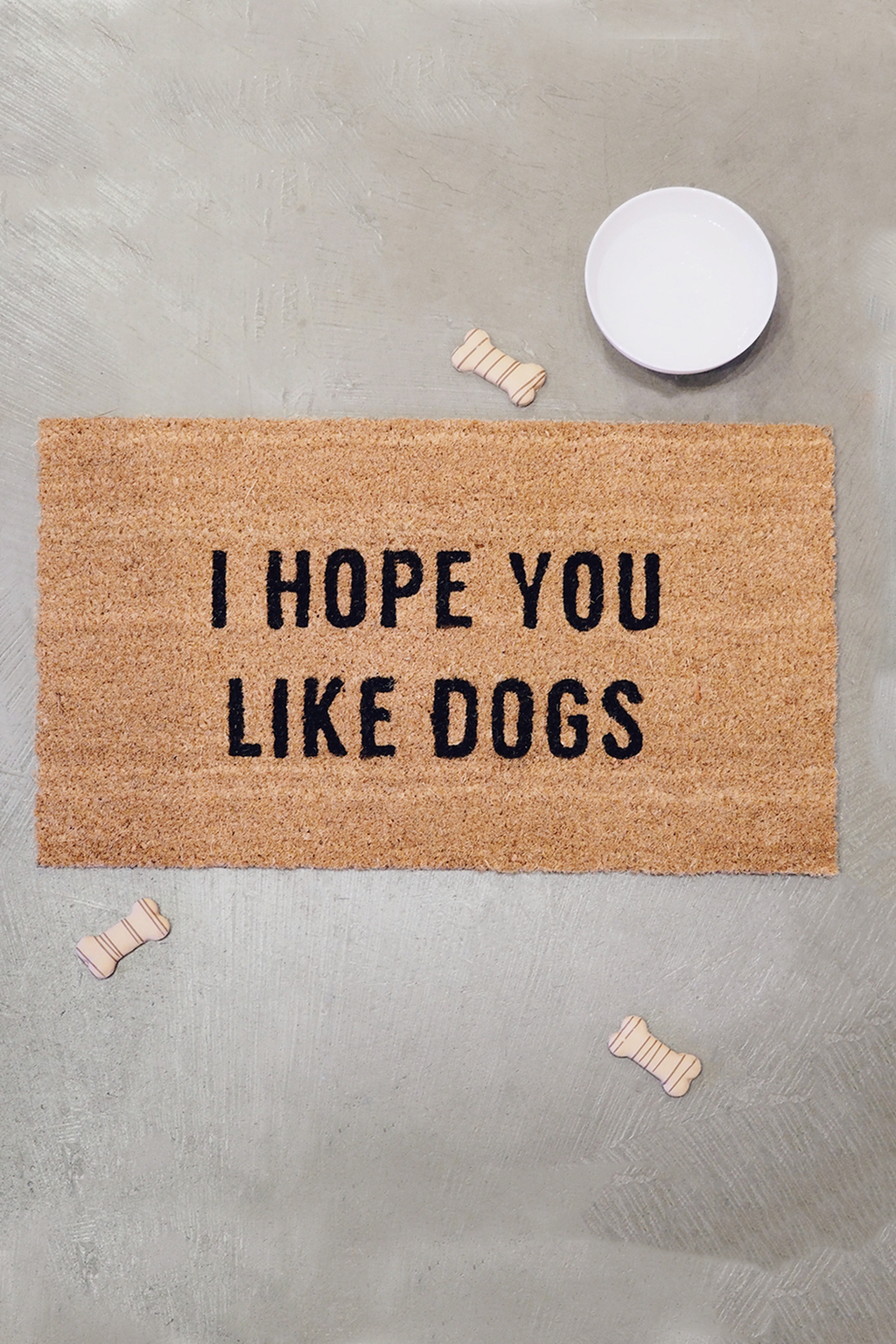 'I Hope You Like Dogs' Doormat