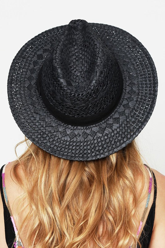 EcoVibe Ambrosia Panama Hat in Black