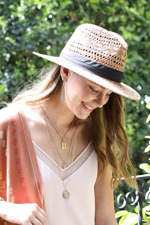 EcoVibe Ambrosia Panama Hat in Light Brown