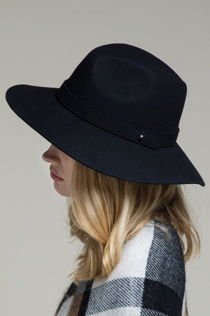 EcoVibe Austin Wool Panama Hat in Black