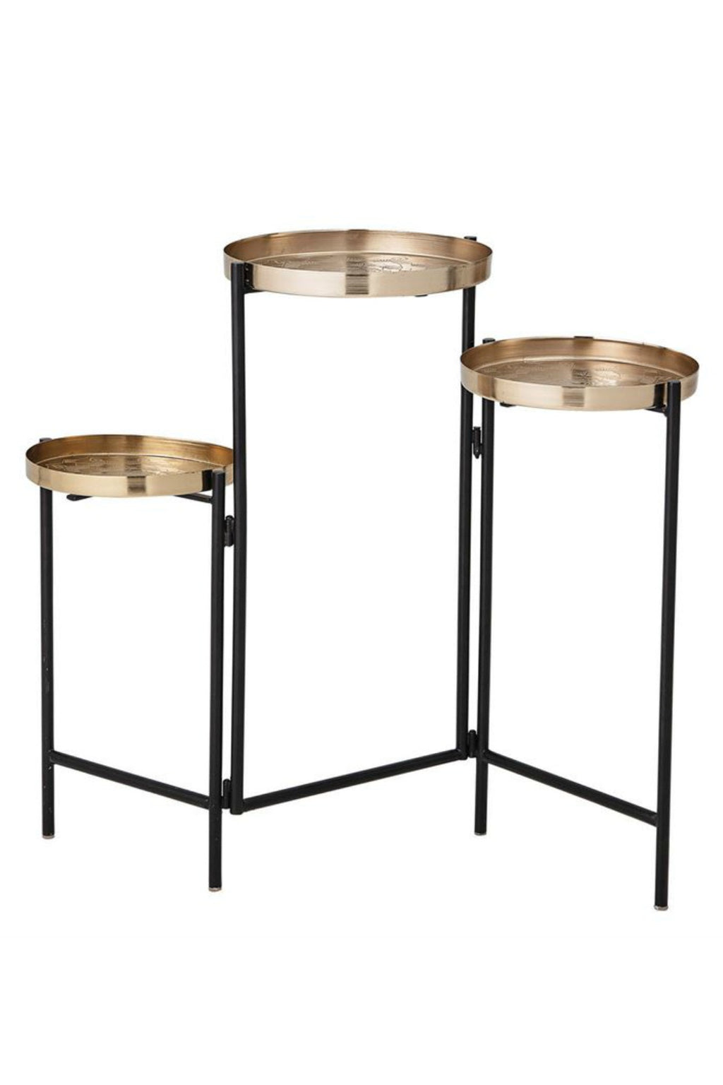 Trio Etched Metal Plant Stand