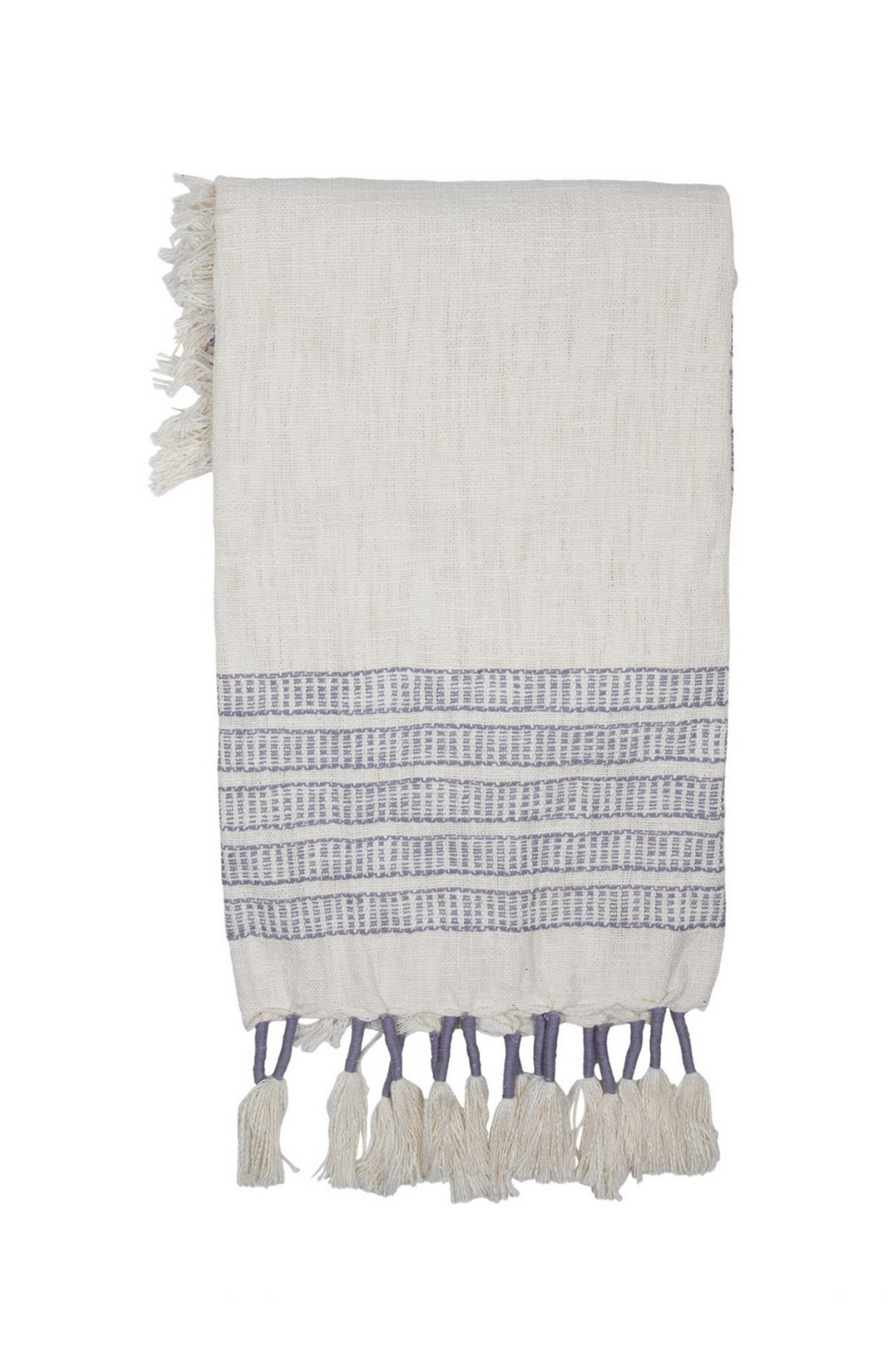 Foreside Home & Garden Hand Woven Leila Throw