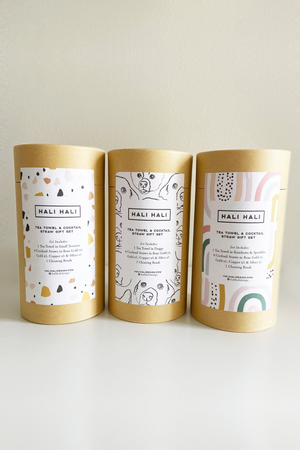 Hali Hali Tea Towel + Cocktail Straw Gift Set