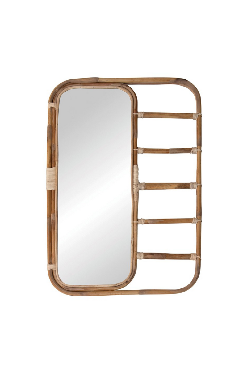 Creative Co-op Natural Rattan Wall Mirror DF4464