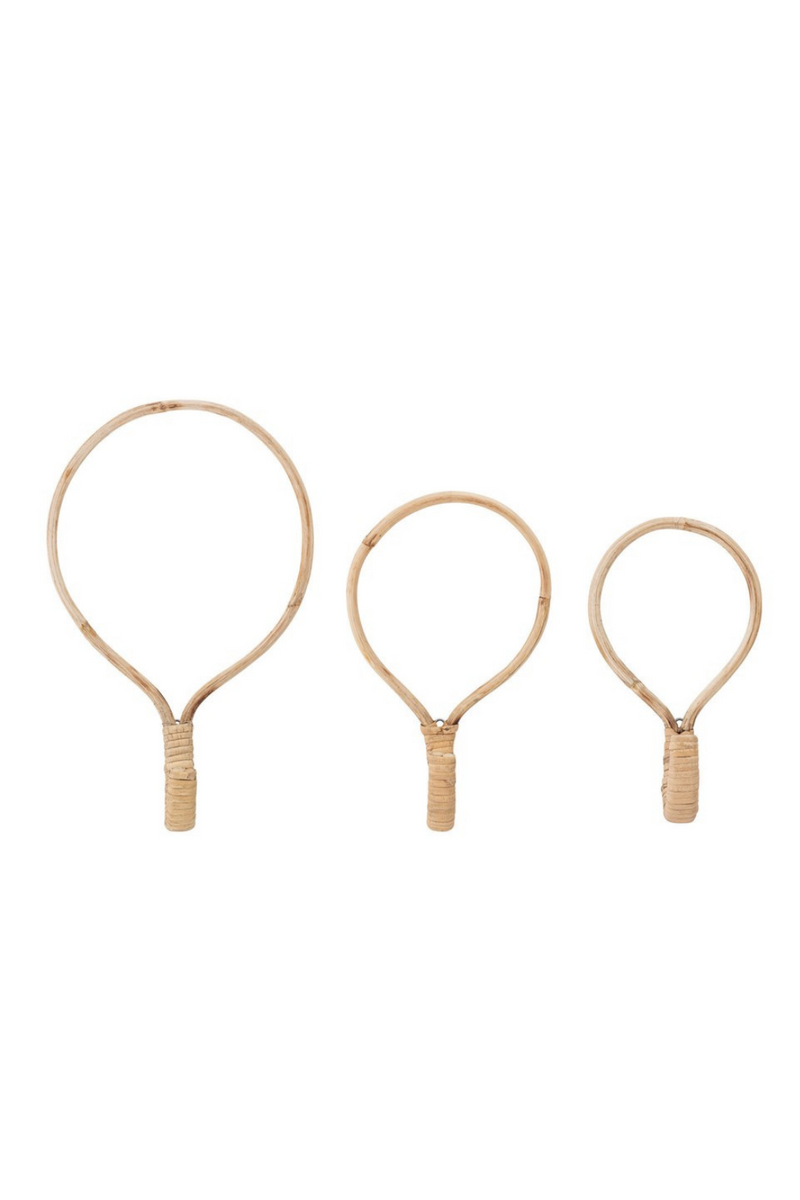 Creative Co-op Rattan Wall Hooks DF3506