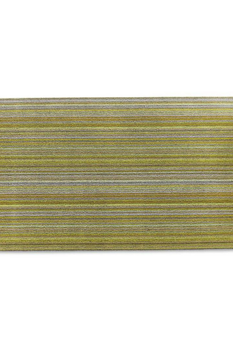 Chilewich Skinny Stripe Shag in Citron