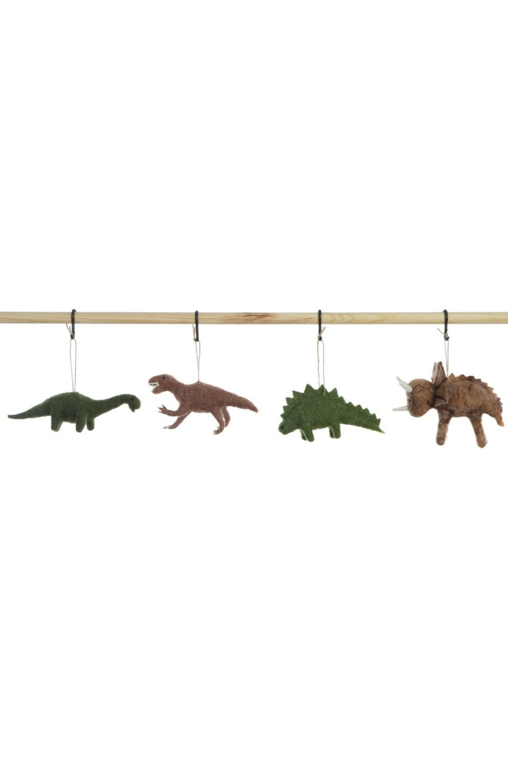 Creative Co-Op Wool Felt Dinosaur Ornament