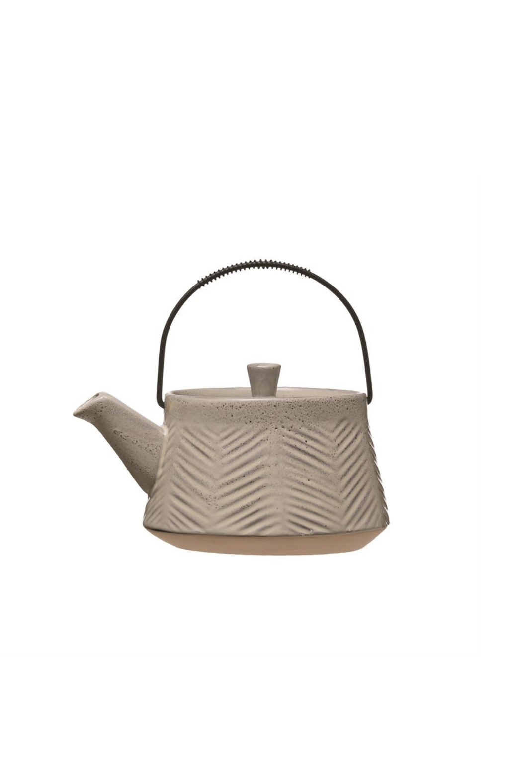 Bloomingville Stoneware Teapot with Metal Strainer