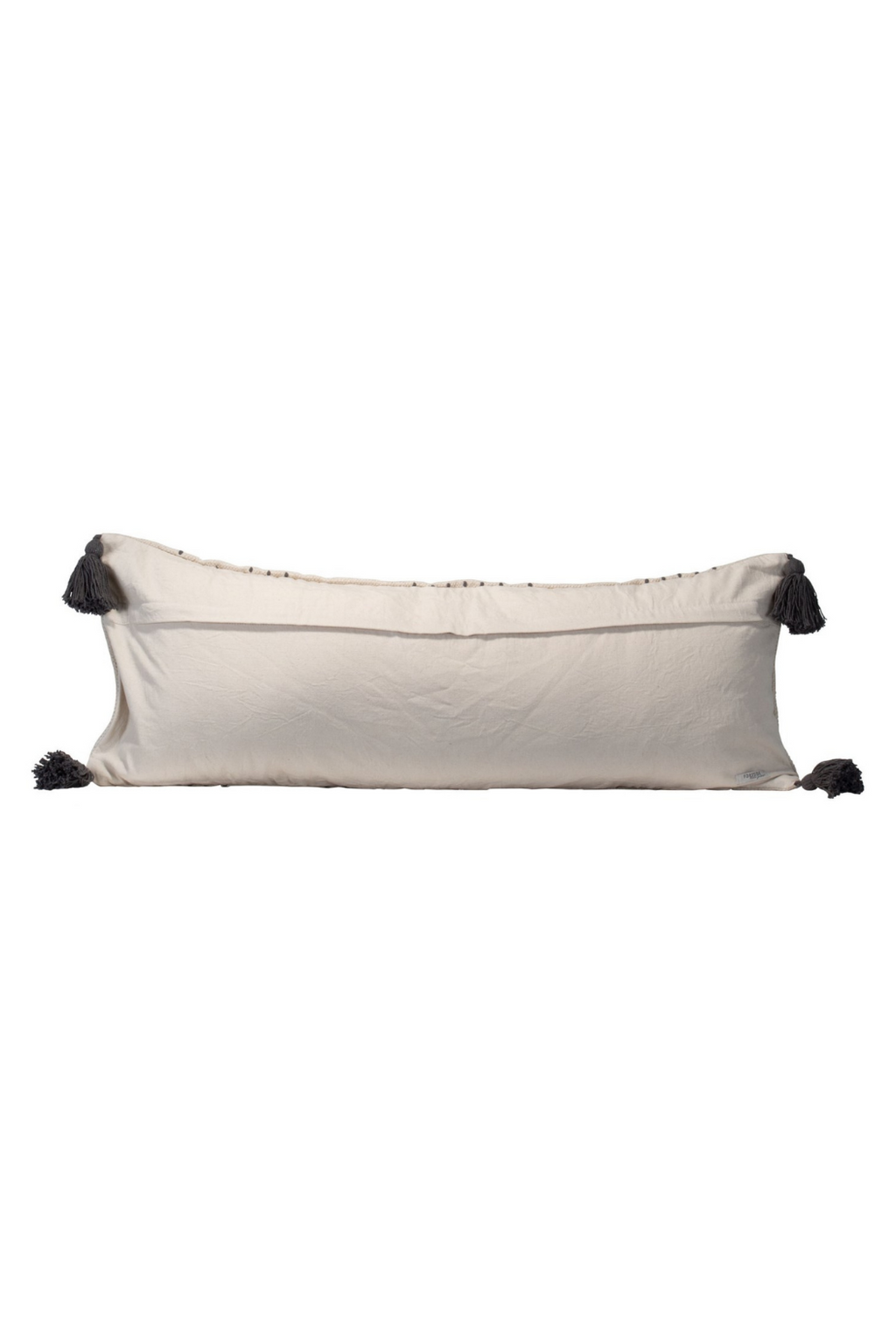 Foreside Home & Garden Hand-Woven Ravi Pillow in Grey