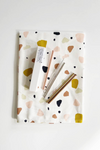 Hali Hali Tea Towel + Cocktail Straw Gift Set in Terrazzo