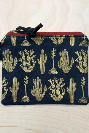 Frankie & Coco Pacific Zipper Pouch in Midnight Desert