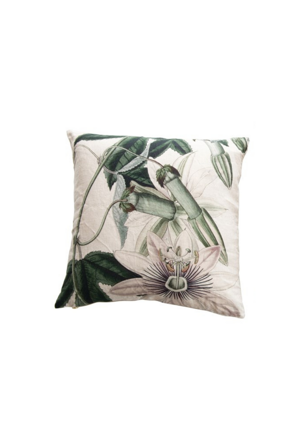 Creative Co-op Linen Floral Printed Pillow DF3594A