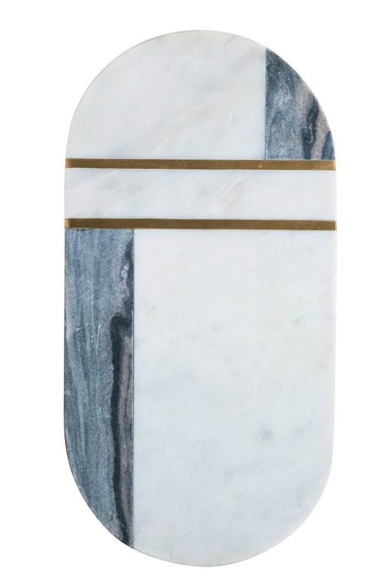 Bloomingville 2-Tone Marble and Brass Cutting Board