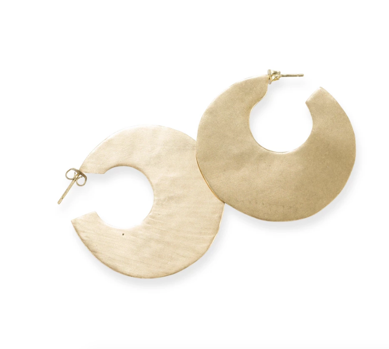 Ink+Alloy Solid Brass Hoop Earrings