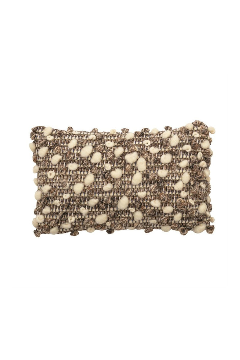 Bloomingville Handwoven Mini Boucle Lumbar Pillow