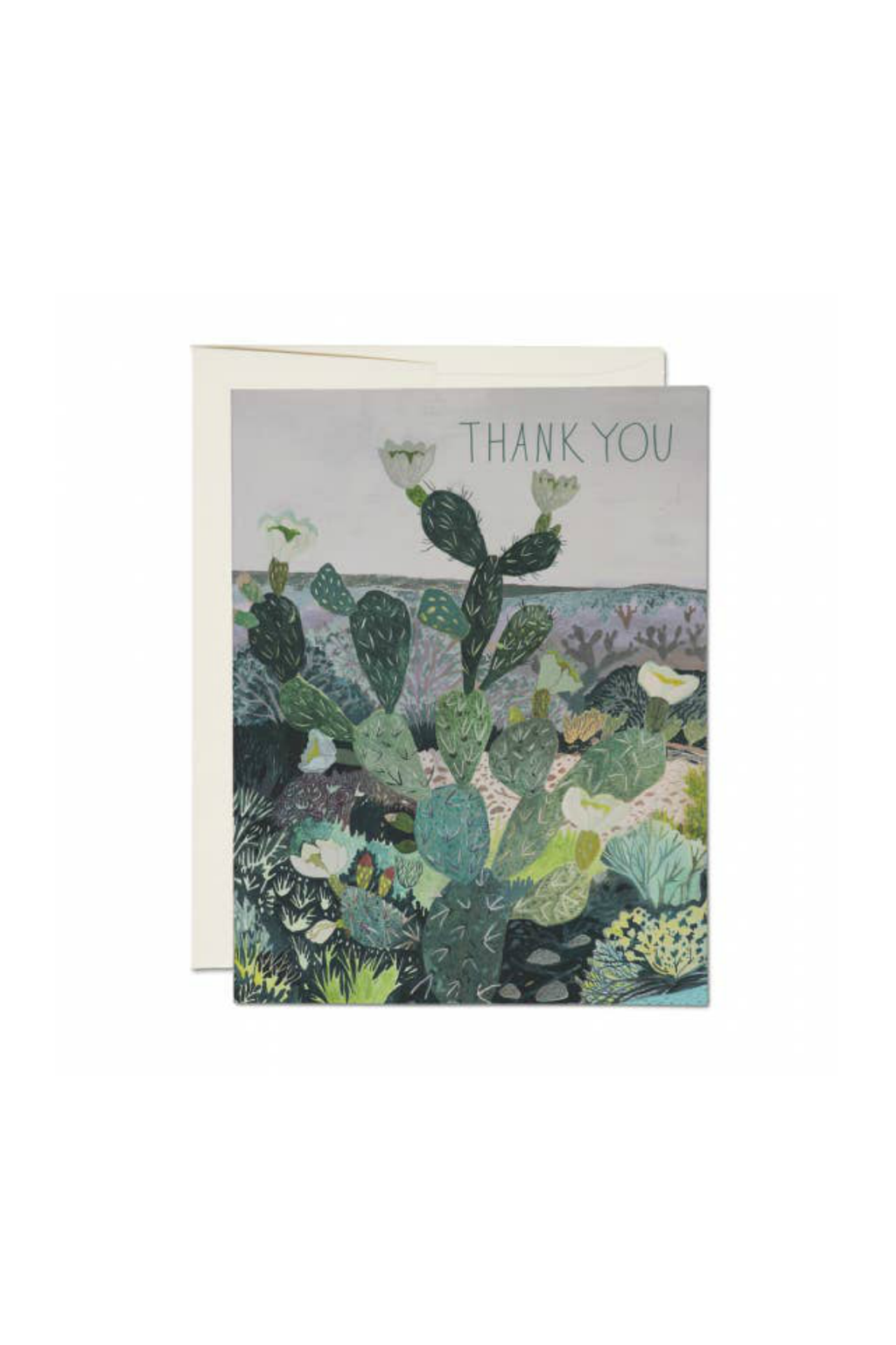 Red Cap Cards Thank You Desert Greeting Card