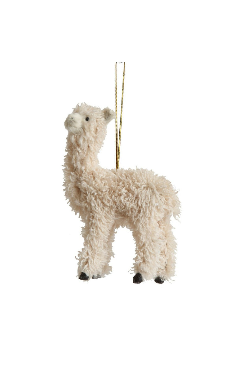 Creative Co-Op Furry Llama Ornament