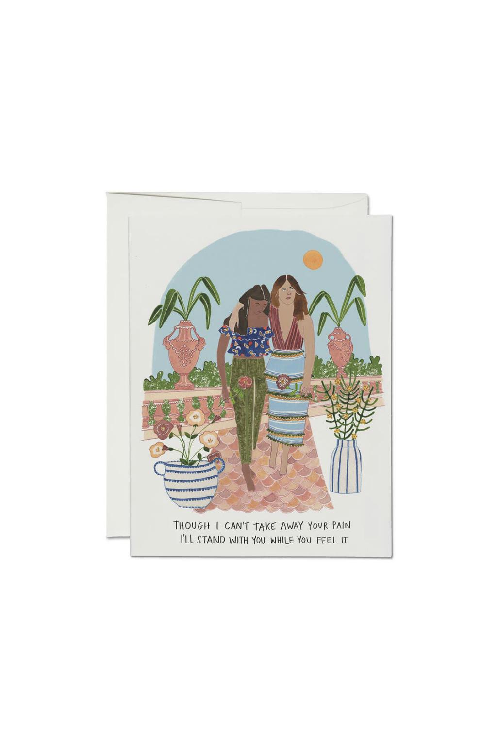 Red Cap Cards Stand With You Greeting Card