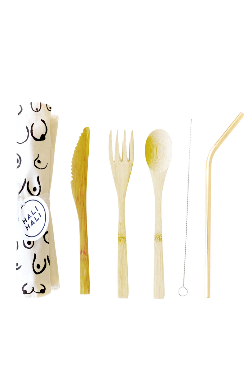 Hali Hali Reusable Cutlery Set in Nip Slip
