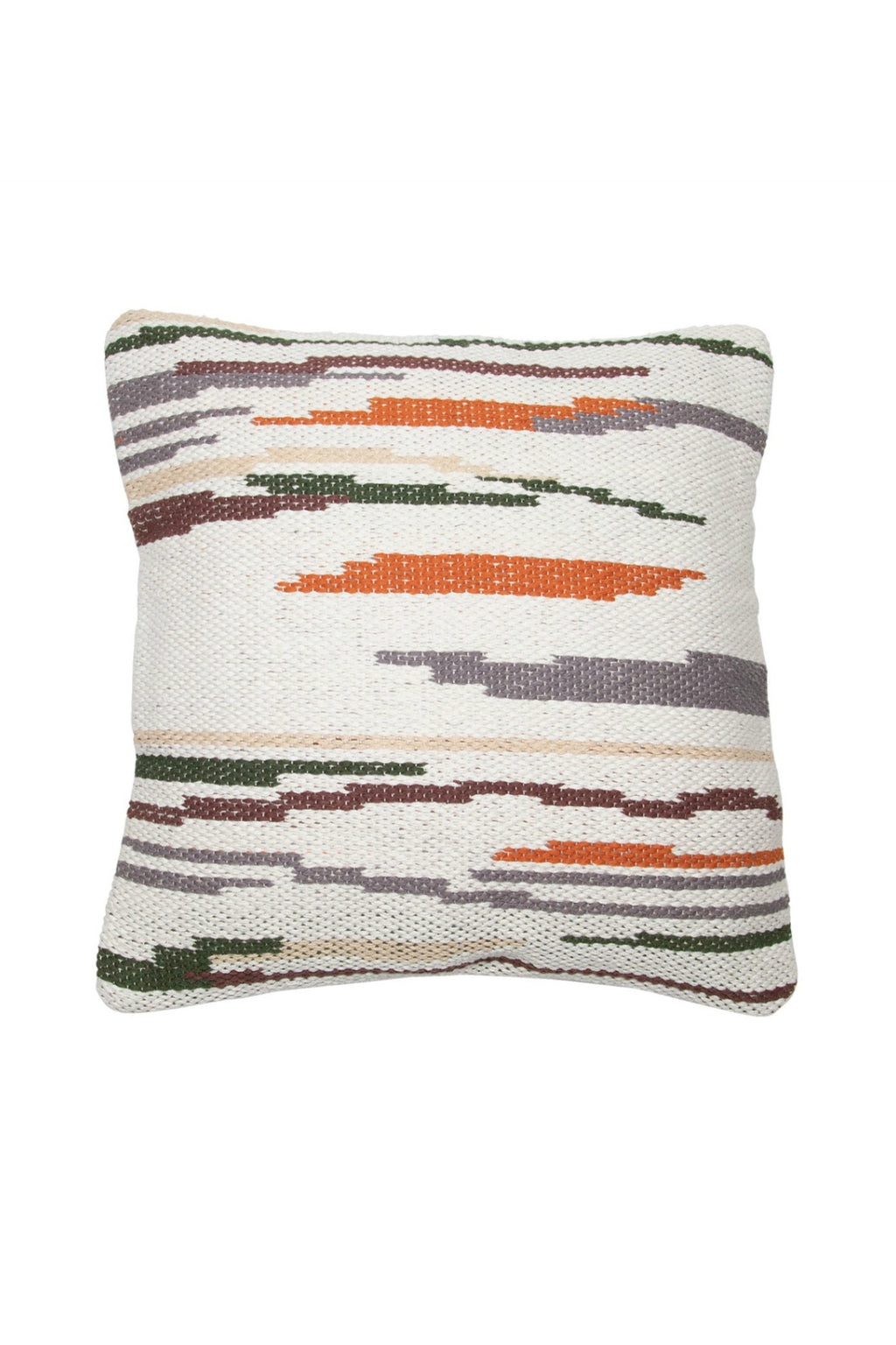 Foreside Hand Woven Hayes Pillow in Neutral