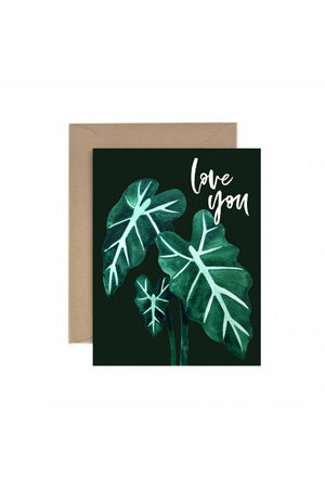 Paper Anchor Co. Love You Alocasia Greeting Card