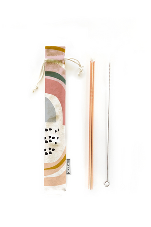 Hali Hali Reusable Straw 3-Piece Set in Prism