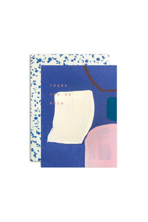 Moglea Blue Thank You Greeting Card