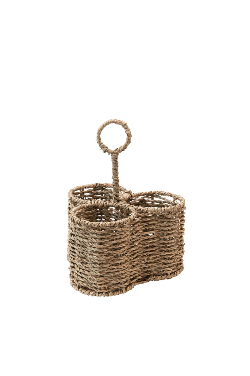 Creative Co-op Sectioned Woven Seagrass Caddy DF4001