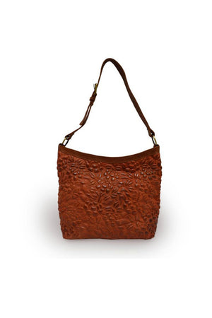 Anabaglish Cari Quilted Shoulder Bag in Rust