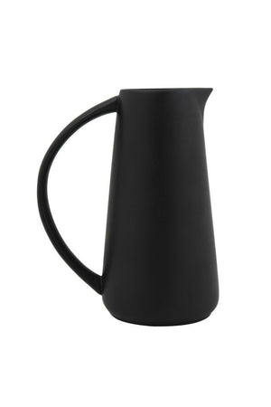 Bloomingville Matte Black Stoneware Pitcher