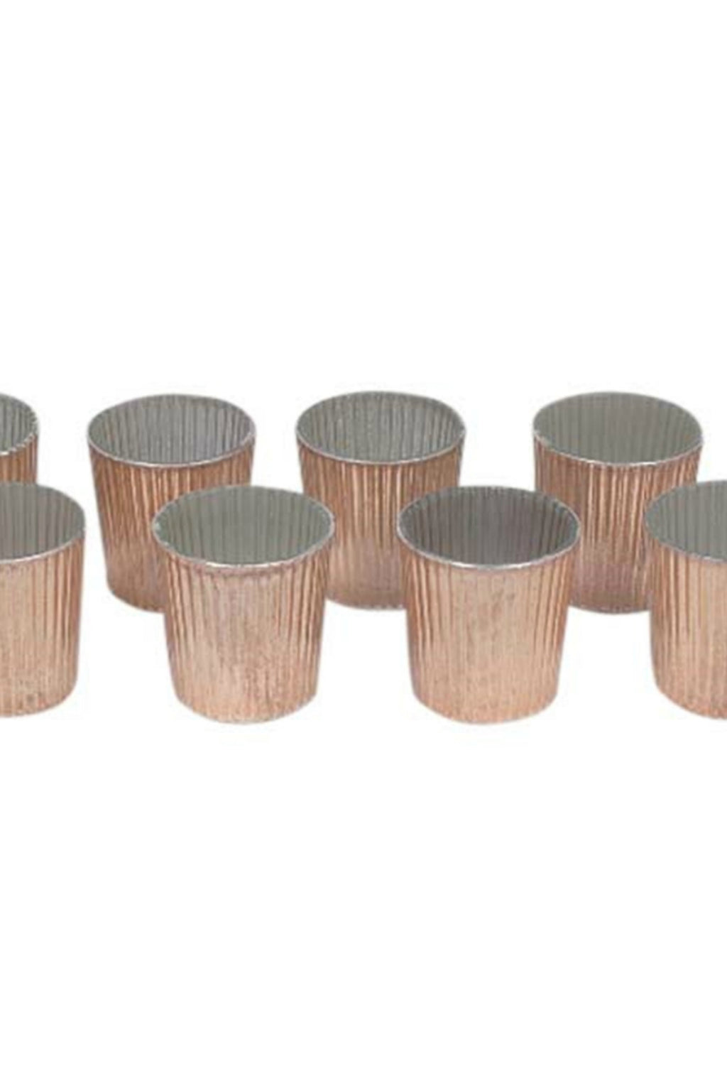 BIDK Home Copper Finish Mercury Glass Votives