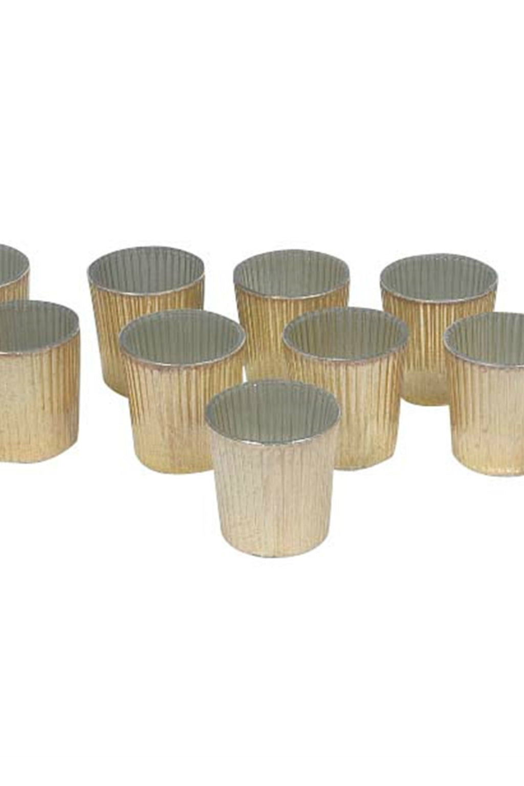 BIDK Home Gold Finish Mercury Glass Votives