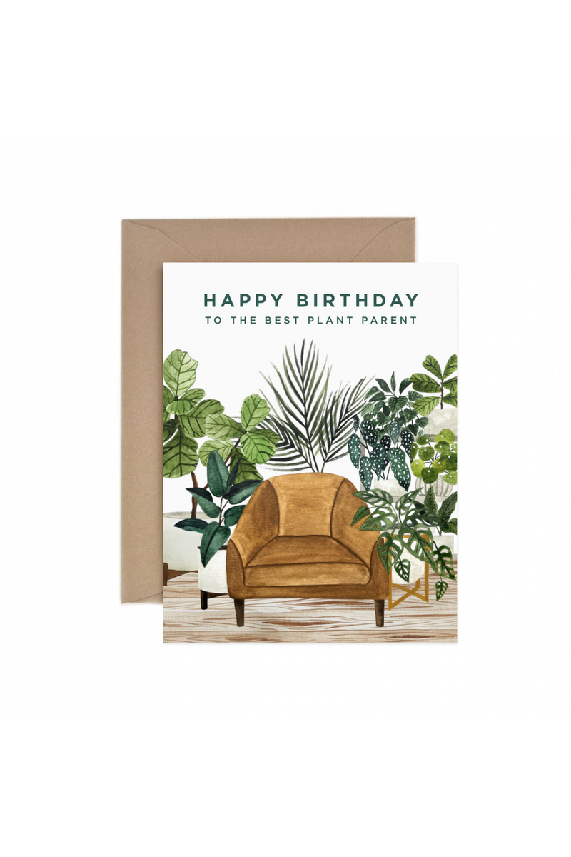 Paper Anchor Co. Best Plant Parent Birthday Greeting Card