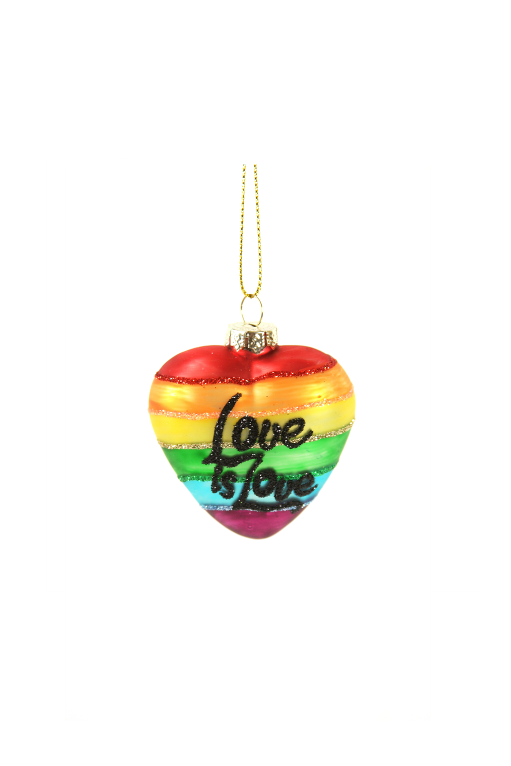 Cody Foster Love is Love Heart Ornament