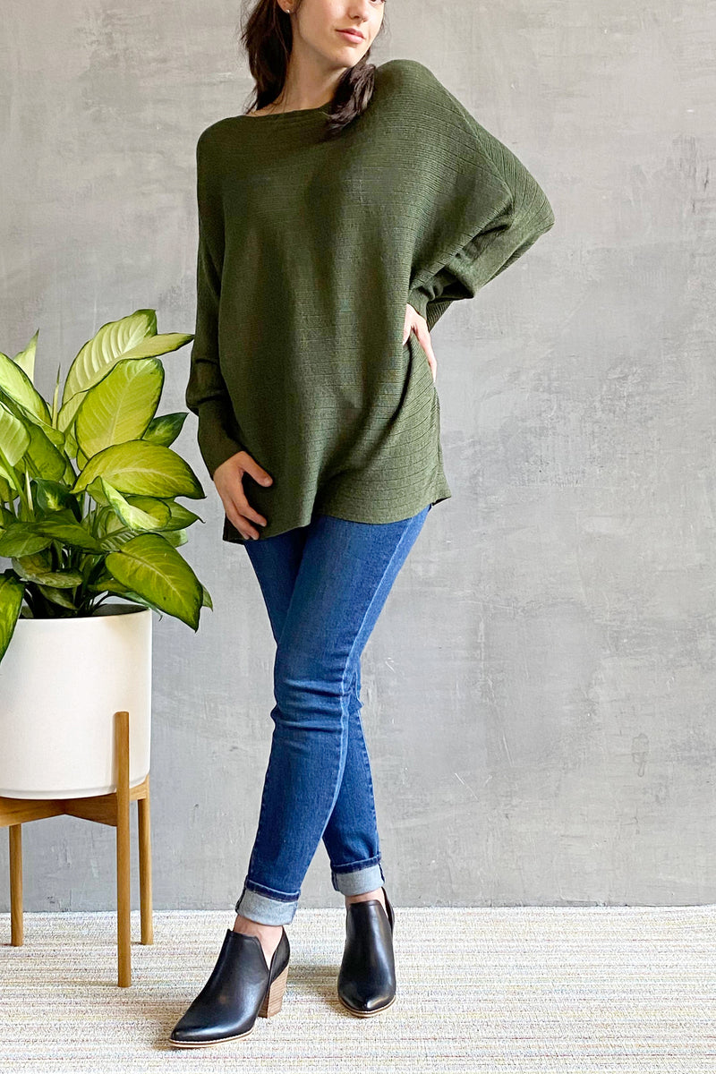 EcoVibe Topaz Tunic in Olive