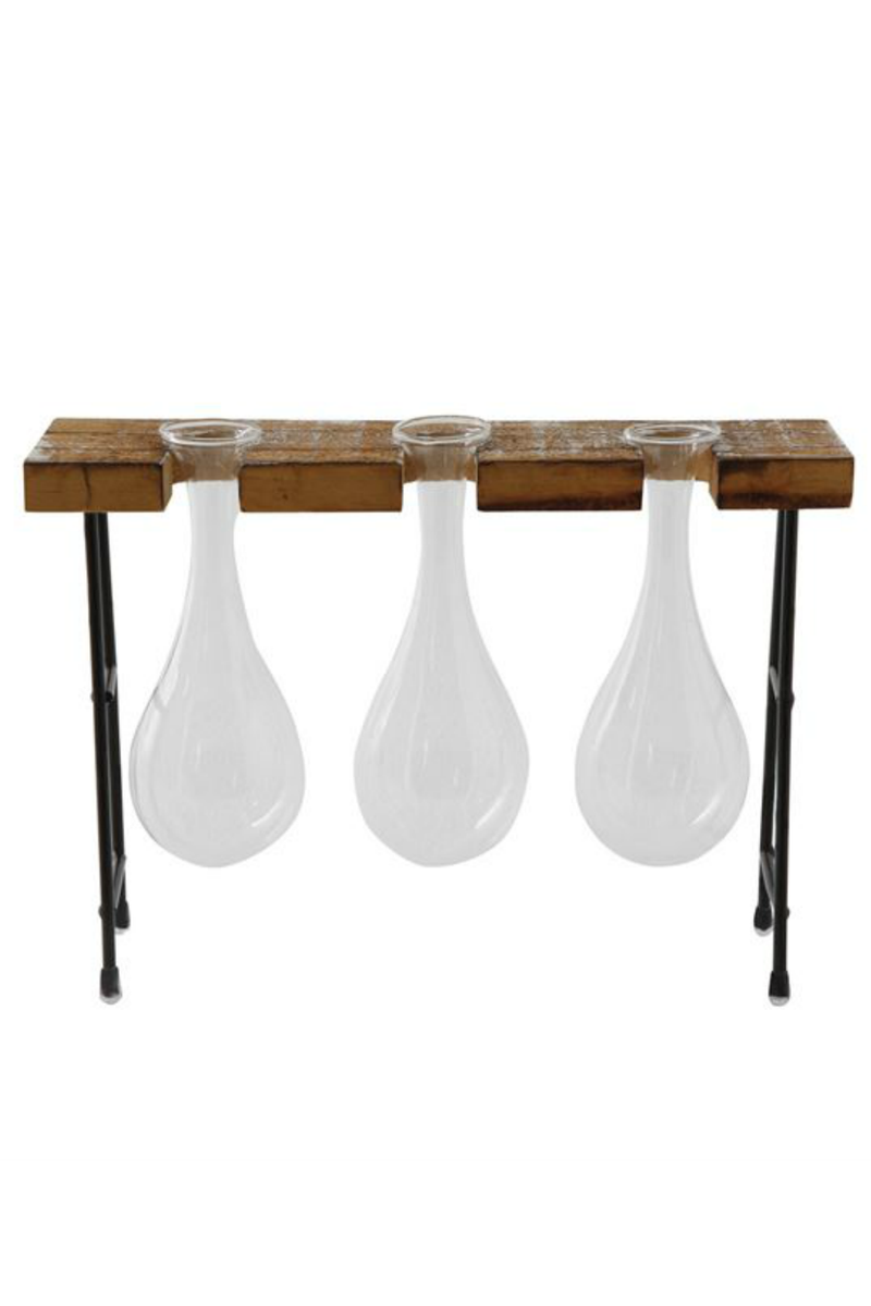 Bloomingville Propagation Vase Trio in Stand