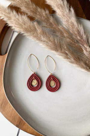 Sweet Nothings By Taniesha Daya Earrings in Red