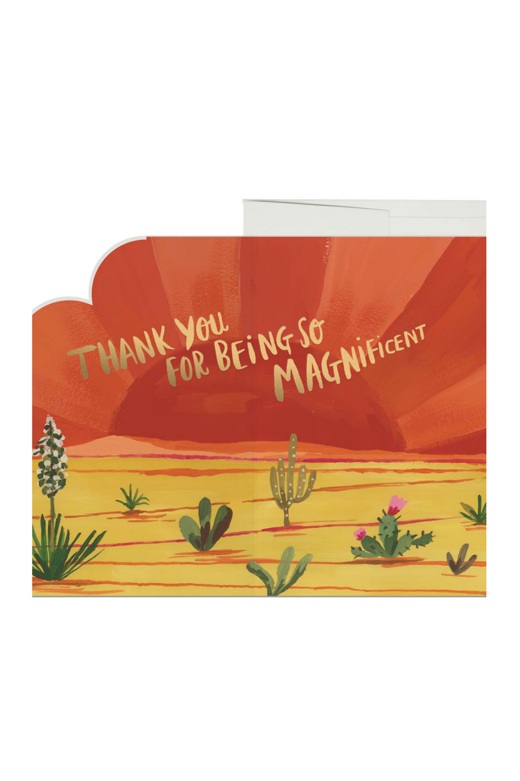 Red Cap Cards Sunset Cactus Greeting Card