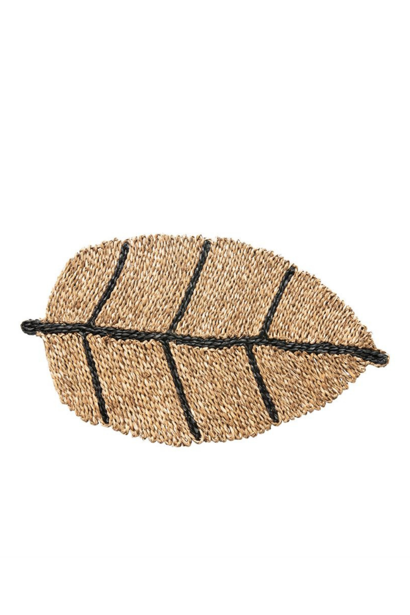 Bloomingville Seagrass Leaf Doormat