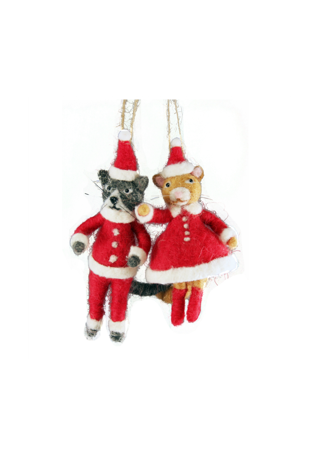 Mr. + Mrs. Cat Clause Ornament