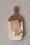 Creative Co-op Marble Cheese Board with Wood Handle DF3651