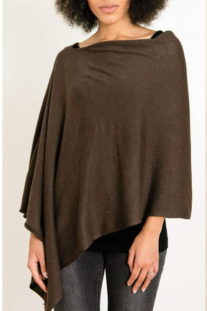 EcoVibe Style - 8-Way Convertible Poncho,  | Dark Chocolate