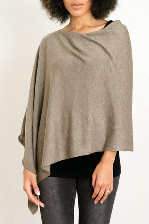 EcoVibe Style - 8-Way Convertible Poncho,  | Dark Taupe