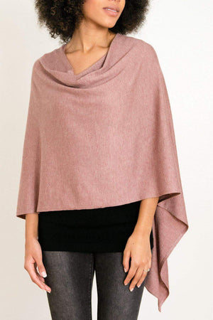 EcoVibe Style - 8-Way Convertible Poncho,  | Dusty Pink