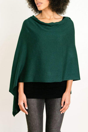 EcoVibe Style - 8-Way Convertible Poncho,  | Forest Green