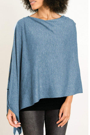 EcoVibe Style - 8-Way Convertible Poncho,  | Light Denim